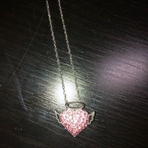 Jewelry - Heart with halo and angle wings necklace